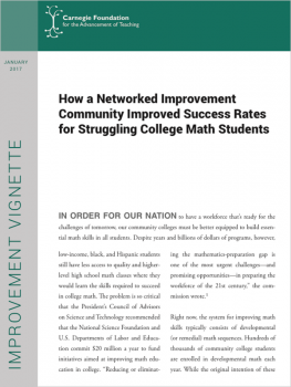 How a Networked Improvement Community Improved Success Rates for Struggling College Math Students