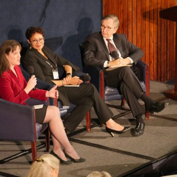 Candice McQueen, Chief Executive Officer, National Institute for Excellence in Teaching; Denise Borders, President and CEO, Learning Forward; Anthony S. Bryk, President, Carnegie Foundation